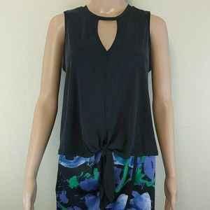 [Leith] Open front tie tank top Small